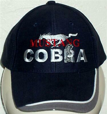 Unisex Baseball Cap with Embroidered Mustang Cobra Car Logo