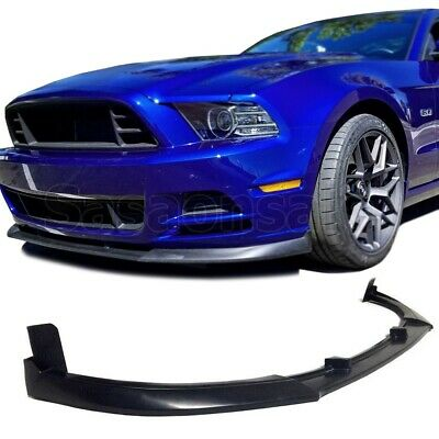 Made for 2013-2014 Ford Mustang V6 V8 GT500 Style PU Front Bumper add-on Lip