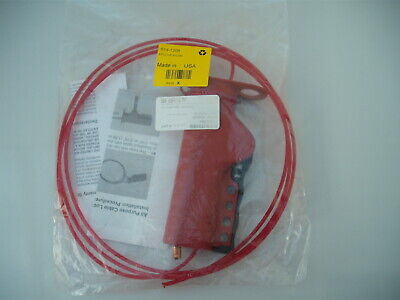 4 Lock, 7mm Shackle Nylon Cable Valve Lockout