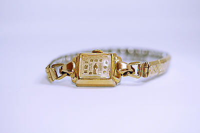 Swiss Made 17 Jewels Ladies Gold Plated Watch Excalibur Harrods Wristwatch