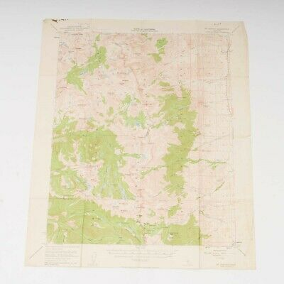 "Lot of 8 Geological Survey Maps Sequoia / Yosemite Sierras California 17"" x 21"""