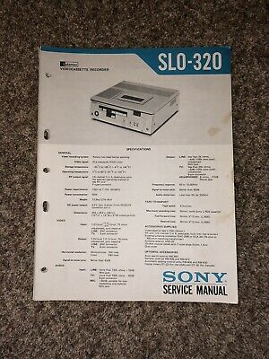 Sony SLO-320 Betamax VCR Service Manual with Schematics