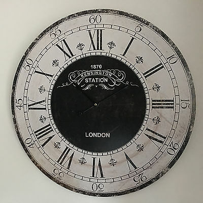 Large Round Vintage Kensington London Station Wall Clock 60cm Large wall clock