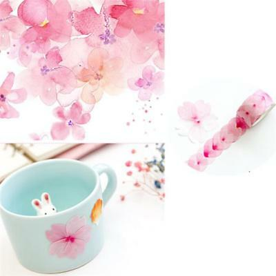 DIY Crafts Color Floral Washi Sticker Decor Roll Paper Masking Adhesive Tape SO