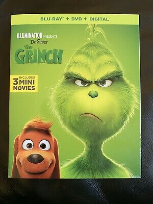 llumination Presents: Dr. Seuss' The Grinch (Blu-Ray, 2019, 2-Disc Set)