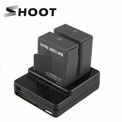 SHOOT 3.7V 1050mAh Rechargeable Battery+Dual Charger for GoPro Hero 3 3+
