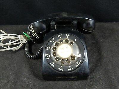 Vintage Bell System Western Electric Black Rotary Dial Telephone C/D 500 Std Rt