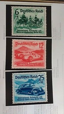 "Germany Third Reich Nazi 1939  Berlin Motor Show  Set of Postcards. 6""x 4"" each"