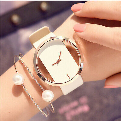 Fashion Elegant Girl Women's Classic Casual Quartz Watch Leather Wrist Watches E