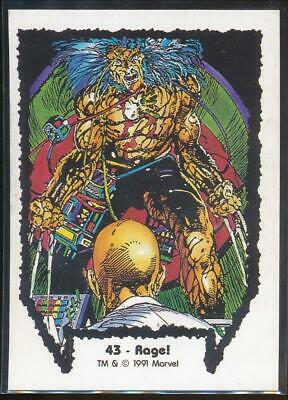 1991 Marvel Wolverine From Then Til Now Series I Trading Card #43 Rage!