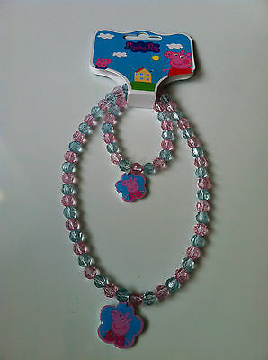 Peppa Pig Necklace and Bracelet Set - Brand New With Tag