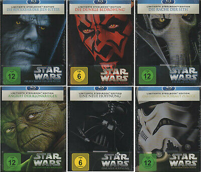 STAR WARS 6 Stück Steelbook Bluray - Blu-ray