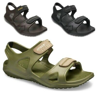 Crocs Mens Swiftwater Sandals Closure Slip ons Beach Summer Shoes