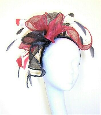 Pink and Grey fascinator,  Mother of Bride fascinator hat, Races fascinator hat