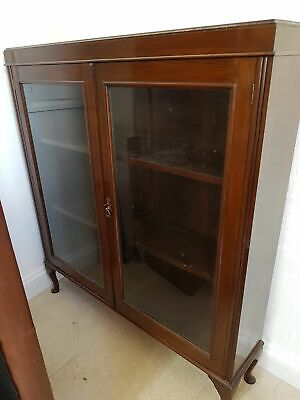 Beautiful glass fronted bookcase, possibly edwardian.