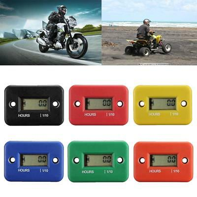 Digital LCD Counter Hour Meter for Motorcycle ATV Dirtbike Marine Boat HY #