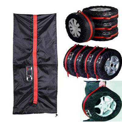 Black Auto Car Spare Wheel Tyre Tire Cover Protection Storage Bag SO