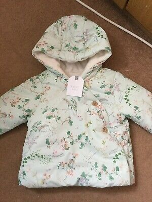 girls next Floral coat Brand New With Tags Age 6-9 Months