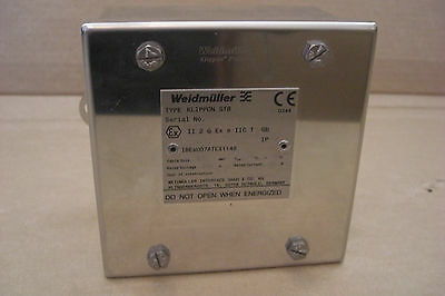 WEIDMULLER Stainless Steel Electrical Enclosure 120 x 120 x 75 Junction Box