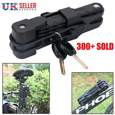 Folding Bicycle Cable Lock Steel Bike Security Anti-Theft Combination MTB Road