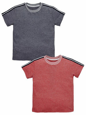 Boys Pack of Two Taped Shoulder T-Shirts in Size 2-3 Free UK P&P