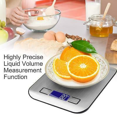 Digital Kitchen Scale 11lb/0.05 ounce 5KG/1G Slim Electronic Stainless Steel KY