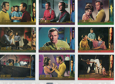 Star Trek TOS Season 3 - Lot Of 24 Character Log chase cards NM Skybox 1999
