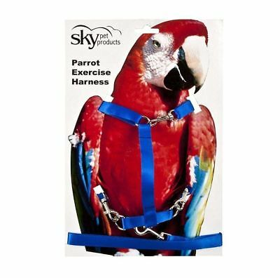 Parrot Exercise Harness Large Blue - Macaws, Cockatoos etc 4931
