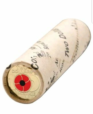 2018 Remembrance Day Armistice Centenary $2 RAM Coin Roll.