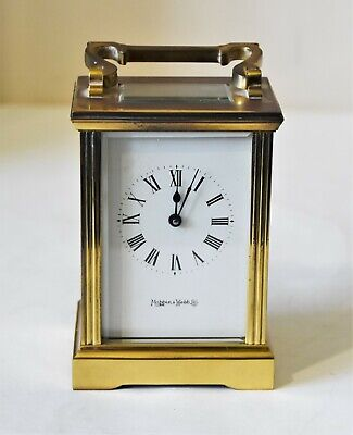 Mapin and Webb Brass Carriage clock with key good working order