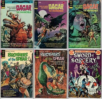 Dagar The Invincible Brothers of the Spear Sword Sorcery Gold Key Bronze Age Lot