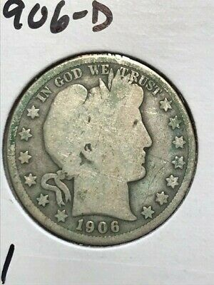 1906D Barber Half Dollar--Good