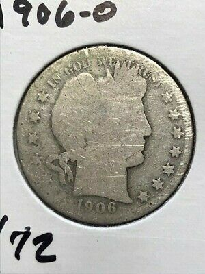 1906-O Barber Half Dollar--Good