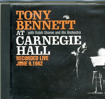 TONY BENNETT - At Carnegie Hall: Recorded Live June 9, 1962 - CD - Excellent