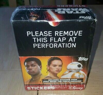 Star Wars: The Force Awakens Part 1 Sealed Sticker Box x50 Packs (Topps, 2015)