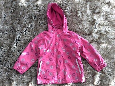 JOLO Girl's Pink Waterproof Windbreaker Jacket 3-4 Years