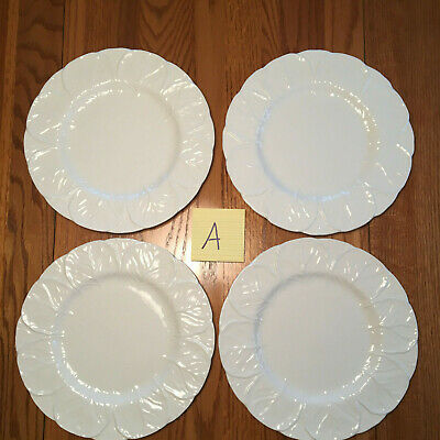 """4 Coalport Countryware White Cabbage Leaf Dinner Plates 10 3/4"""" Wedgwood LOT A"""