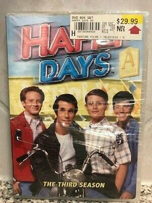 Happy Days - The Complete Season 3 Disc DVD Set New in Plastic