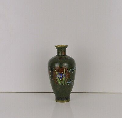 A Quality Japanese Small Cloisonne Vase Meiji Period