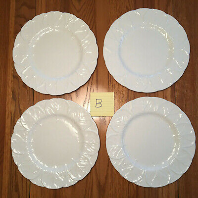 """4 Coalport Countryware White Cabbage Leaf Dinner Plates 10 3/4"""" Wedgwood LOT B"""