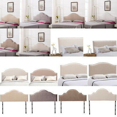 the latest 60214 34c77 UPHOLSTERED HEADBOARD KING/QUEEN/TWIN Size Adjustable Headboards Nailhead  Trim