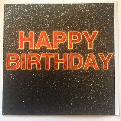 """F3 BIRTHDAY CARDS from TRACKS 6.5/""""X6.5/""""High Quality glitter /& foil  RRP £2.49"""