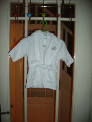 Unisex Baby Bear LADYBIRD Dressing Gown White 0-3 months EXCELLENT CONDITION