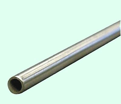 """Round Tubing 304 Stainless Steel  5/8"""" OD x 6 ft.  Welded  0.585"""" Inside Dia."""