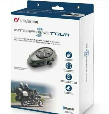 Cellularline Interphone Tour Individual Pack Motorcycle Bluetooth Hands Free Kit