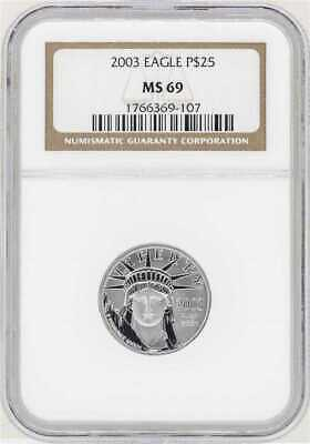 2003 $25 Platinum 1/4 ounce American Eagle NGC MS 69