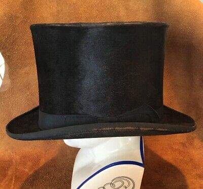 Antique Top Hat Young Bros Silk Plush New York