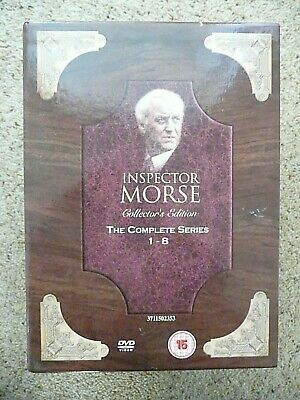 Inspector Morse  Complete Series  1 To 8  Dvd  34 Disc Box Set  Good Condition.