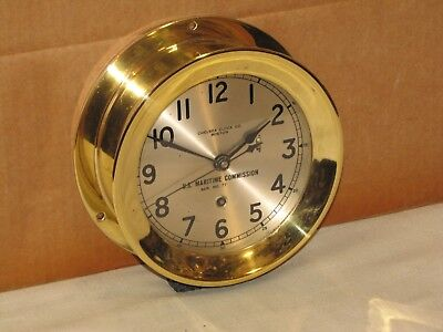 Chelsea U.s.navy Ships Clock~6In~Liberty Ship~Circa 1941~Ww2~Restored