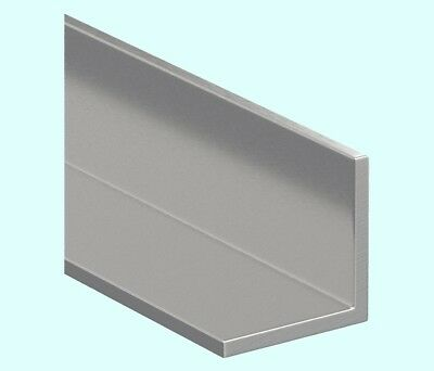 """Stainless Steel Angle Iron  1/8"""" x 1"""" x 7 ft   90° Hot Rolled 304 Mill Finish"""